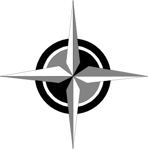4 point compass rose